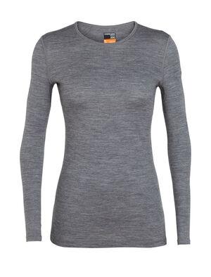Femme T-shirt manches longues col rond 200 Oasis  Avec son jersey 100% mérinos respirant, notre haut manches longues col rond 200Oasis est à l'aise quelles que soient les circonstances; c'est notre couche de base la plus populaire.