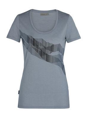 Tech Lite T-shirt St Anton met korte mouwen en lage ronde hals van merinowol