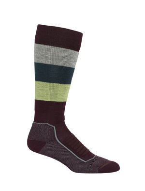 Merino Ski+ Medium Over the Calf Wide Stripe Socks