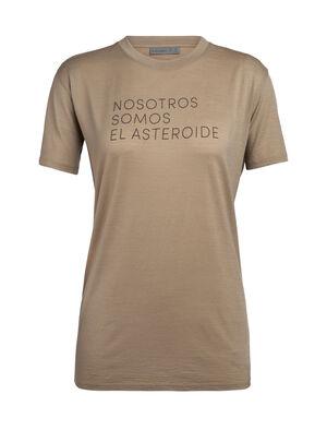 天然印染美丽诺羊毛Tech Lite短袖中低圆领T恤(Asteroid Spanish)