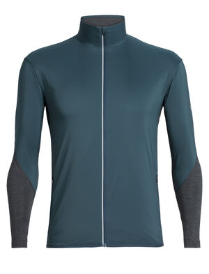 Mens Tech Trainer Hybrid Jacket A technical men's running jacket designed for winter training in cold weather, the Tech Trainer Hybrid Jacket combines a merino wool blend with a hybrid construction for technical performance.