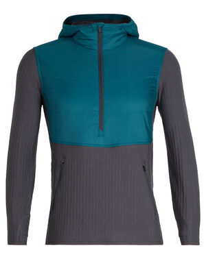 MerinoLOFT™ Descender Hybrid Long Sleeve Half Zip Hood
