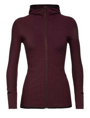 Womens RealFleece™ Merino Descender Long Sleeve Zip Hood Jacket A technical mid layer for cold, aerobic days outside, the Descender Long Sleeve Zip Hood features our merino wool RealFleece™ for premium warmth and breathability.