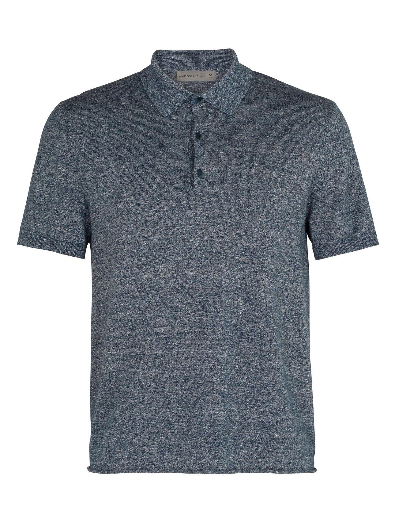 Merino Flaxen Short Sleeve Polo Shirt