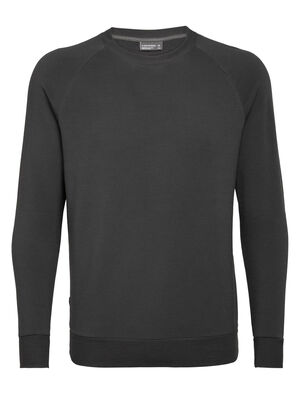 Mens Merino Nature Dye Helliers Long Sleeve Crewe Sweatshirt A classic daily pullover sweatshirt made with our merino wool RealFleece™ fabric, the Nature Dye Helliers Long Sleeve Crewe is dyed with natural plant pigments.