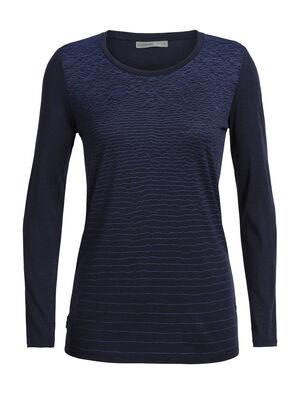 女款 Tech Lite长袖中低圆领上衣(Landscape Lines) Tech Lite长袖中低圆领上衣(Landscape Lines)是一款轻盈的女款长袖T恤,采用包芯美丽诺羊毛平纹针织面料,舒适耐穿,性能出色,是您日常打底上装的理想选择。