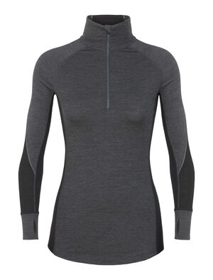 Womens BodyfitZone™ Merino 260 Zone Long Sleeve Half Zip Thermal Top Our technical, cold-weather base layer top for highly aerobic days, the 260 Zone Long Sleeve Half Zip features zoned ventilation panels for active temperature regulation and ample breathability.