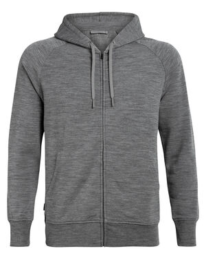 Mens RealFLEECE® Helliers Long Sleeve Zip Hood A classic daily men's hooded sweatshirt made with our merino wool realfleece® fabric, the Helliers Long Sleeve Zip Hood is the perfect hoodie for everyday comfort and travel.