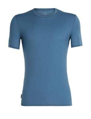 Mens Anatomica Short Sleeve Crewe A slim-fit merino wool short sleeve shirt made with our corespun fabric, the Anatomica Short Sleeve Crewe offers lightweight breathability and comfort for a variety of active pursuits.