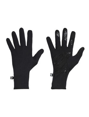 Unisex Quantum Gloves The Quantum Gloves are technical, midweight and stretchy merino-blend wool gloves with touchscreen fingertips and silicone grip on the palms.
