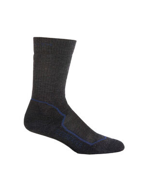 Mens Merino Hike+ Medium Crew Socks Durable, medium cushioned crew-length men's merino wool socks that are stretchy, breathable and odor-resistant, the Hike+ Medium Crew socks feature an anatomical sculpted design for day hikes and backpacking trips.