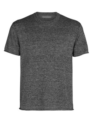 Merino Flaxen Short Sleeve Crewe Sweater