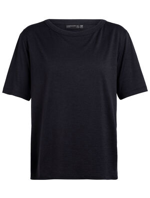 Womens 旅 TABI Tech Lite laidback Short Sleeve Crewe From our 旅 TABI collection, a collaboration with Japanese apparel house GOLDWIN, the Tech Lite laidback Short Sleeve Pocket Crewe is a relaxed-fit womens T-shirt crafted from soft and luxurious jersey corespun.