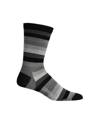 休闲系列超薄条纹中筒袜