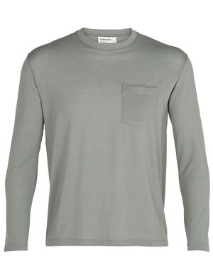 Mens Merino 150 Long Sleeve Pocket Crewe T-Shirt Our classic and indispensable pocket tee with a long-sleeve silhouette and the natural benefits of merino wool, the 150 Long Sleeve Pocket Crewe is an everyday wardrobe essential.