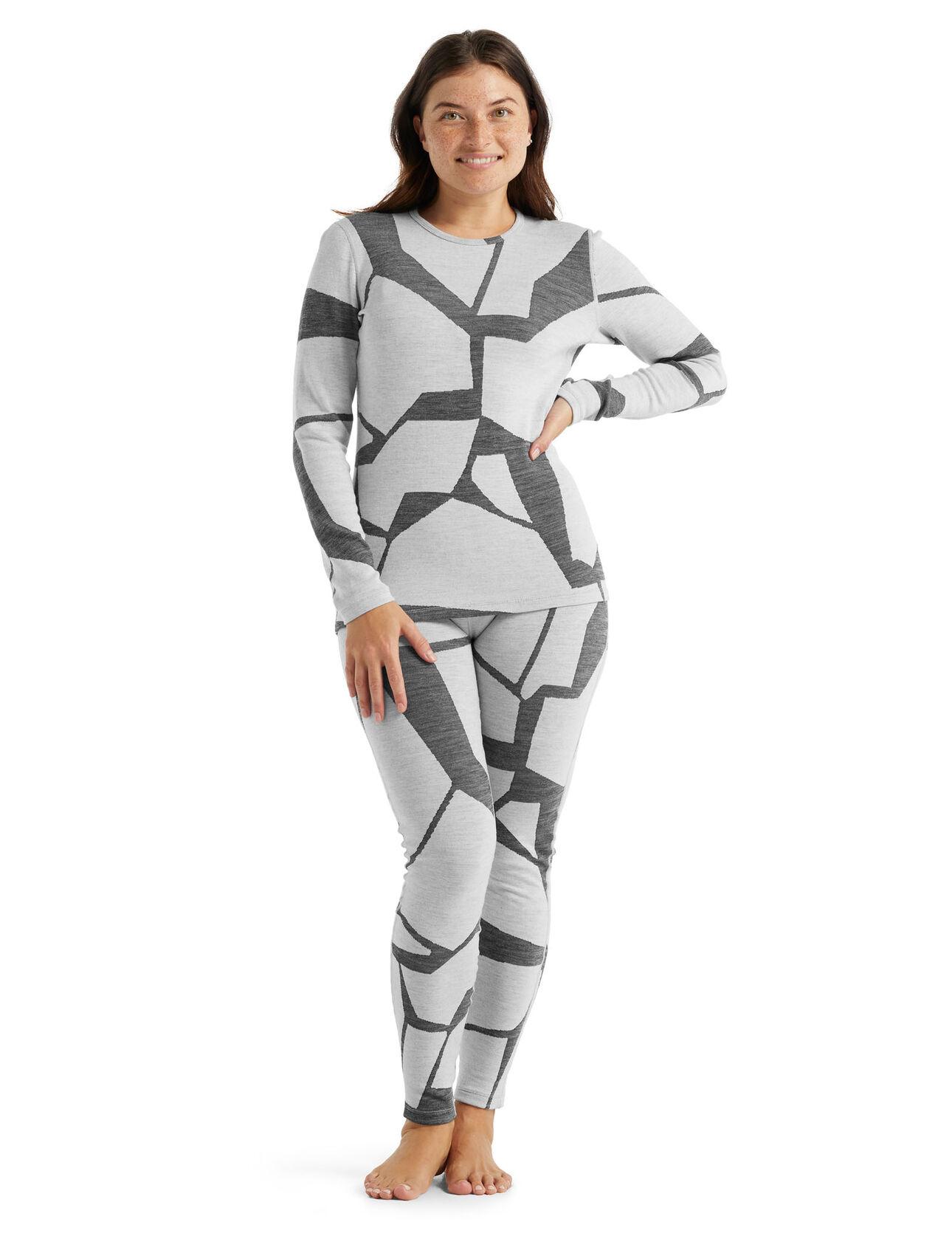 Haut col rond et legging 250 Vertex Fractured Landscapes Femme