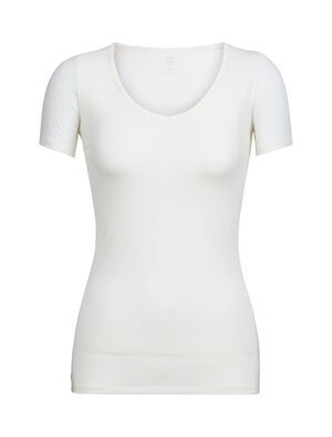 Womens Merino Siren Short Sleeve Sweetheart Top A soft and stretchy long sleeve T-shirt for everyday comfort and layering, the Siren Short Sleeve Sweetheart features a slim fit and our corespun merino wool blend fabric.