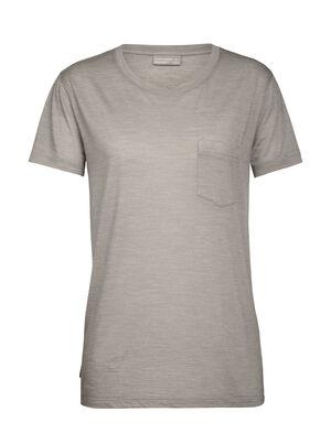天然印染Drayden短袖圆领上衣 带口袋