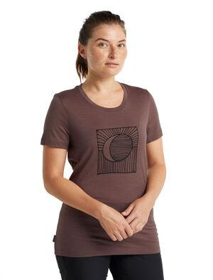 Tech Lite II T-shirt Nature's Orb met korte mouwen van merinowol