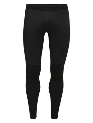 Mens Cool-Lite™ Merino Tech Trainer Hybrid Leggings Our technical training tights for cool, mixed conditions, the Tech Trainer Hybrid Leggings combine a weather-resistant, stretch-woven outer shell with comfortable and highly breathable Cool-Lite™ fabric.