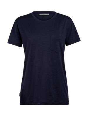 Womens Ravyn Short Sleeve Pocket Crewe A classic womens merino wool t-shirt ideal for everyday layering comfort, the Ravyn Short Sleeve Pocket Crewe features our jersey corespun fabric.