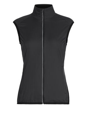 女款 Cool-Lite™ Rush马甲 Rush马甲超轻外层面料搭配柔软的美丽诺羊毛网眼衬里,防风防雨,适合在跑步、自行车骑行或训练时穿着。