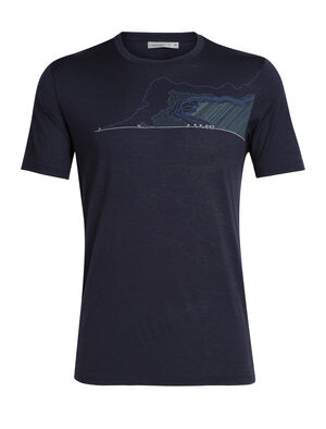 Mens Tech Lite Short Sleeve Crewe Glacial Lines Our most versatile men's merino wool T-shirt, the Tech Lite Short Sleeve Crewe Glacial Lines is naturally soft, breathable and odor-resistant for comfort on your adventures.