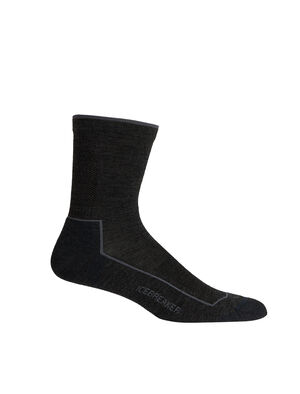 Mens Hike Cool-Lite™ 3Q Crew Ultralight mens merino wool hiking socks for warm weather comfort on the trails, the Hike cool-lite™ 3/4 Crew are soft, durable, and breathable.