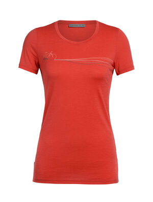 Merino Tech Lite kurzärmliges T-Shirt Cadence Paths