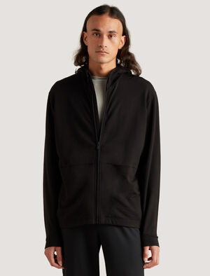 Mens icebreaker City Label Merino Zip Hoodie The warm and breathable Merino Hoodie is perfect for life on the move - across town or time zones. In soft and naturally odor-resistant merino, it includes concealed zip pockets for safely stowing small items.