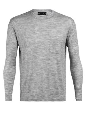 Mens 旅 TABI Tech Lite Long Sleeve Pocket Crewe From our 旅 TABI collection, a collaboration with Japanese apparel house GOLDWIN, the Tech Lite Long Sleeve Pocket Crewe is a lightweight mens merino wool T-shirt crafted from soft and luxurious jersey corespun.
