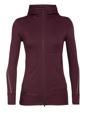 Womens Merino Quantum II Long Sleeve Zip Hood Jacket   A stretchy, highly technical merino mid layer designed for cool-weather alpine pursuits, the Quantum II Long Sleeve Zip Hood is ready for adventure.