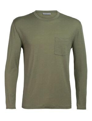 美丽诺羊毛Ravyn长袖圆领T恤(带口袋)