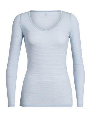 Womens Merino Siren Long Sleeve Sweetheart T-Shirt  A soft and stretchy long sleeve T-shirt for everyday comfort and layering, the Siren Long Sleeve Sweetheart features a slim fit and our corespun merino wool blend fabric.
