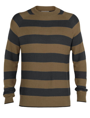 Mens Cool-Lite™ Merino Utility Explore Crewe Sweater A soft and breathable merino-blend sweater in 100% natural fibers, the Utility Explore Crewe Sweater is made with our Cool-Lite™ fabric, in a casual and relaxed fit.