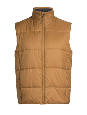 Mens Collingwood Vest Built with PFC-free 100% recycled polyester exterior, 100% woven merino interior, and our innovative ultra-warm 180gm merinoloft™ insulation, the Collingwood Vest is a men's merino wool puffy vest with sustainable design, and clean, modern style.