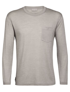 T-shirt manches longues, col rond et poche Nature Dye Drayden