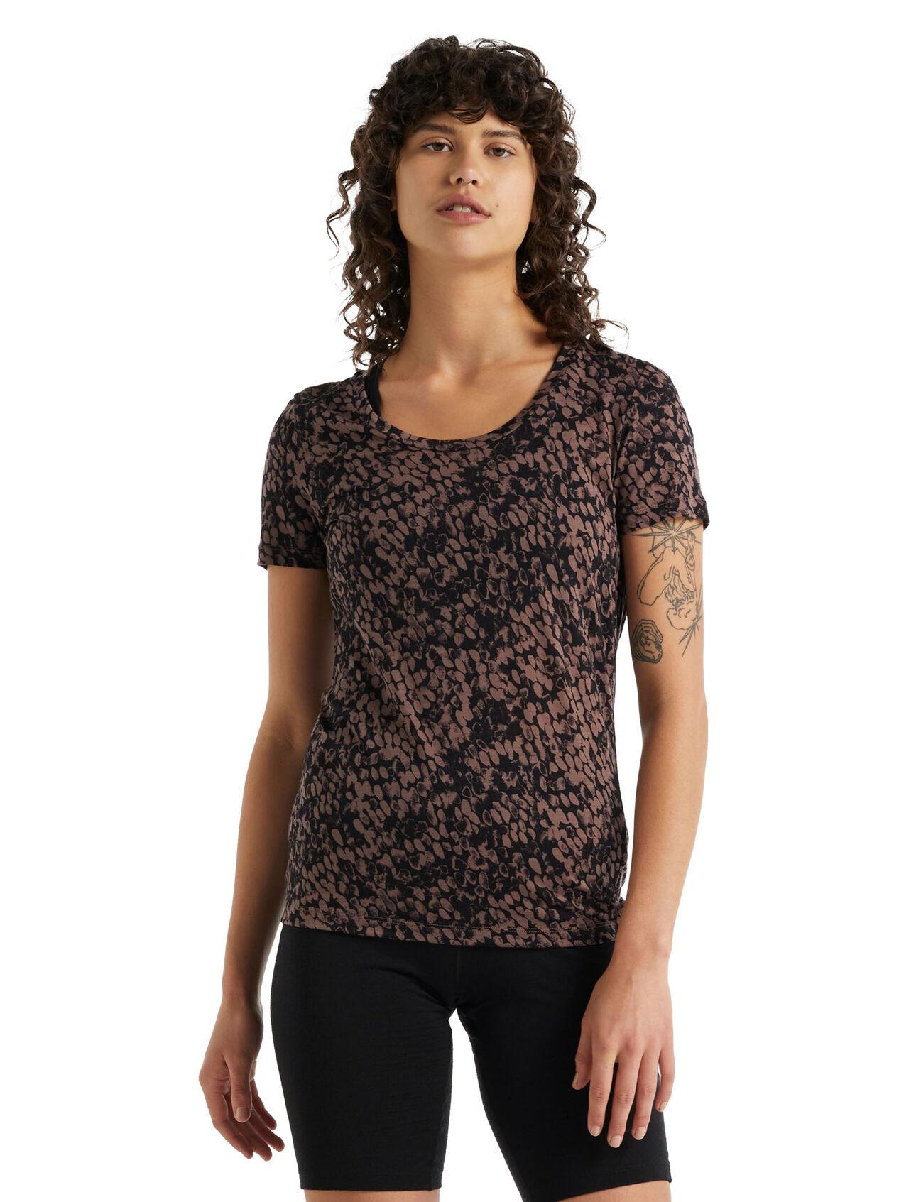 T-shirt manches courtes encolure dégagée mérinos Tech LiteII Forest Shadows
