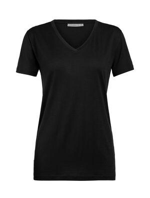 Merino Ravyn T-Shirt mit V-Ausschnitt