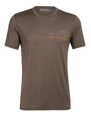 Merino Tech Lite kurzärmliges T-Shirt Single Line Camp