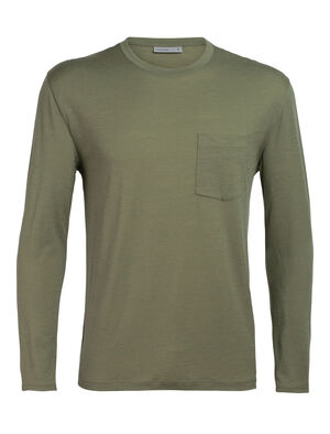 Mens Merino Ravyn Long Sleeve Pocket Crewe T-Shirt A classic mens merino pocket T-shirt ideal for everyday layering comfort, the Ravyn Long Sleeve Pocket Crewe features our jersey corespun fabric.