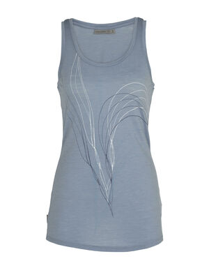 Womens Merino Spector Tank Top Leaf A lightweight, do-it-all top made with our durable merino jersey corespun fabric, the Spector Tank Leaf is a go-to everyday choice. The tank's original artwork by William Carden-Horton captures a sense of natural wonder.