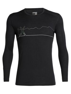 Merino 200 Oasis长袖圆领上衣(Single Line Ski)