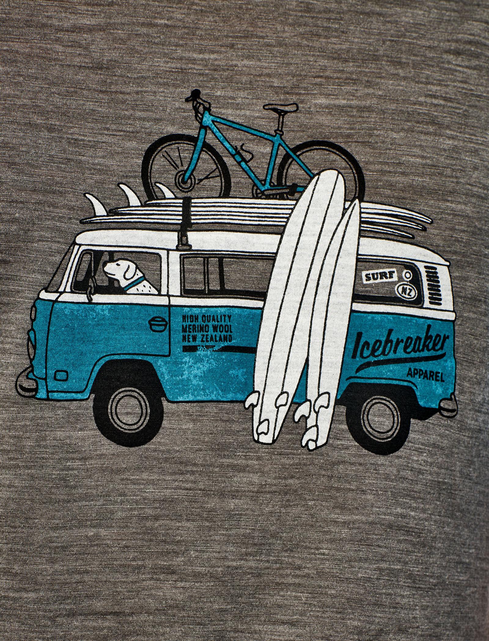 Icebreaker Herren Mens Sphere Ss Crewe Van Surf Life T-Shirt