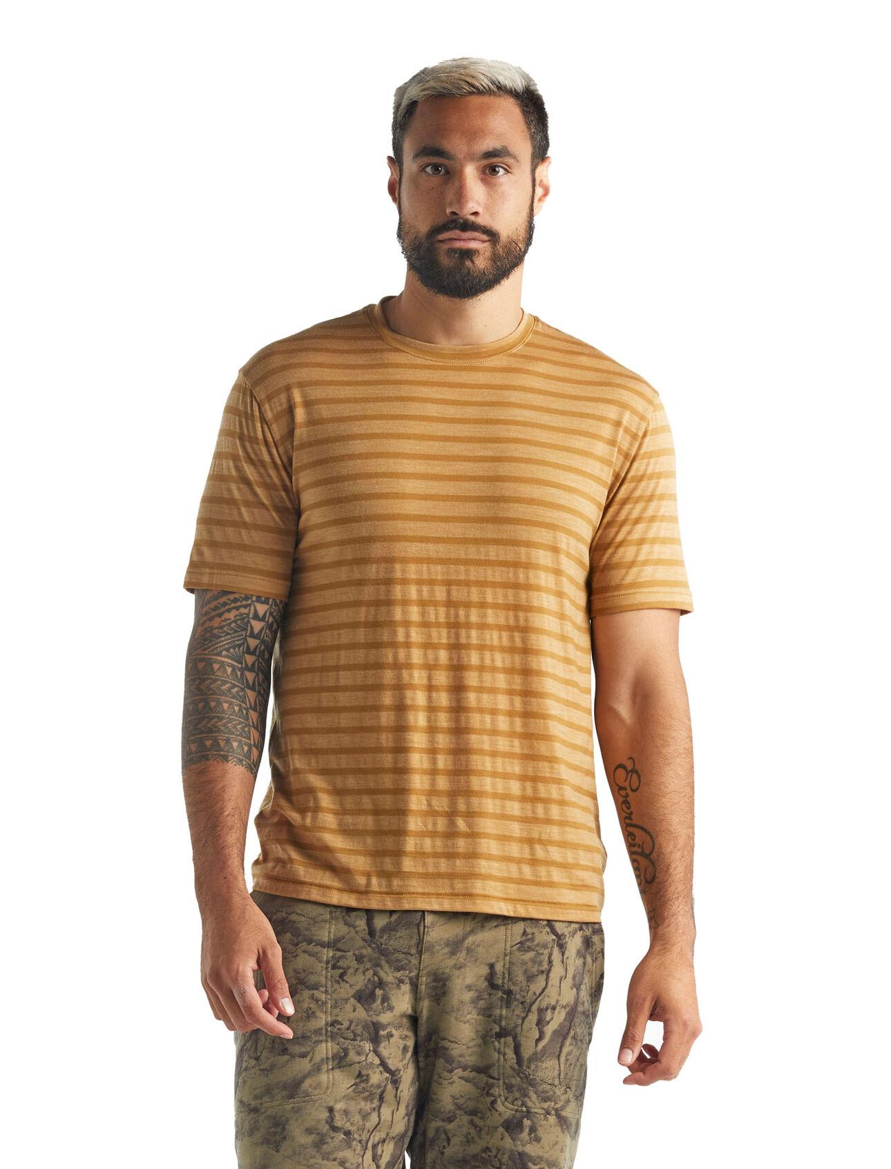 Cool-Lite™ Merino Utility Explore Short Sleeve Crewe Stripe T-Shirt
