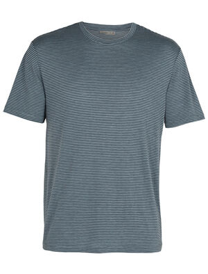 Mens Merino Dowlas Short Sleeve Crewe Stripe T-Shirt Clean, classic and made with a 100% natural fiber blend of merino wool and linen, the Dowlas Short Sleeve Crewe Stripe is an everyday favorite for lightweight comfort.