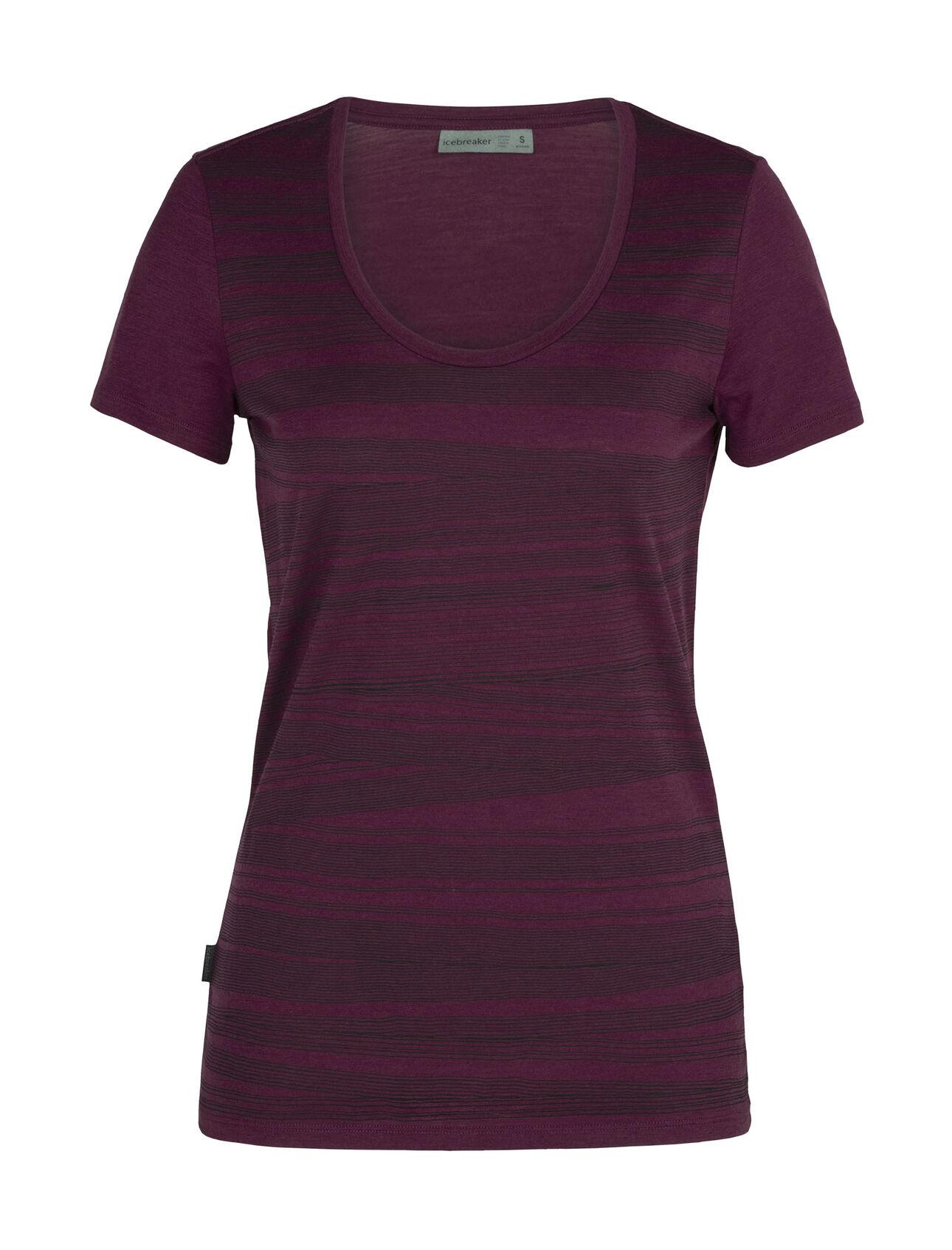 Merino Tech Lite Short Sleeve Scoop Neck T-Shirt 1000 Lines