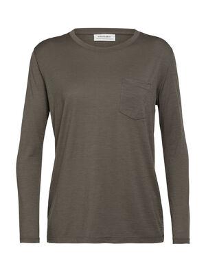 Tech Lite långärmad t-shirt med ficka och rund halsringning