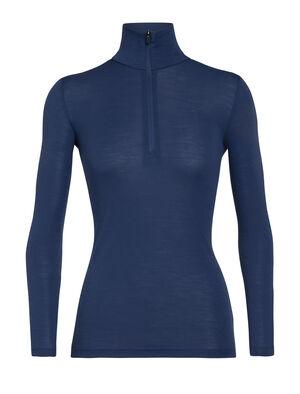 女款 175 Everyday长袖半拉链上衣 多功能175 Everyday长袖半拉链上衣采用柔软透气的100%美丽诺羊毛制成,是一款用途广泛、舒适百搭的经典打底T恤。