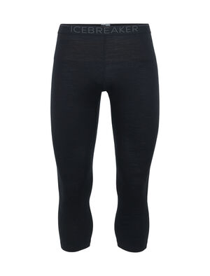 Mens 200 Oasis Legless Midweight men's merino leggings with a short-leg design for use with boots, the 200 Oasis Legless base layer bottoms are made from 100% merino wool.